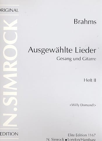 Ausgewählte Lieder Volume 2 - BRAHMS - Partition - laflutedepan.com