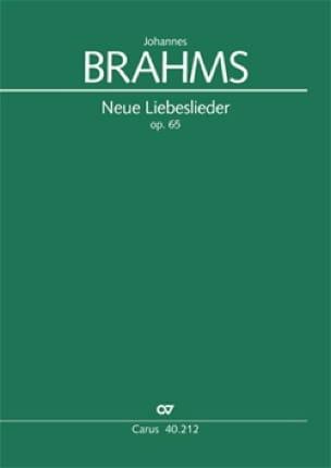 BRAHMS - Neue Liebeslieder-Walzer op. 65 - Partition - di-arezzo.co.uk