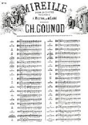 Charles Gounod - Here is the Cute Season. Mireille - Partition - di-arezzo.co.uk