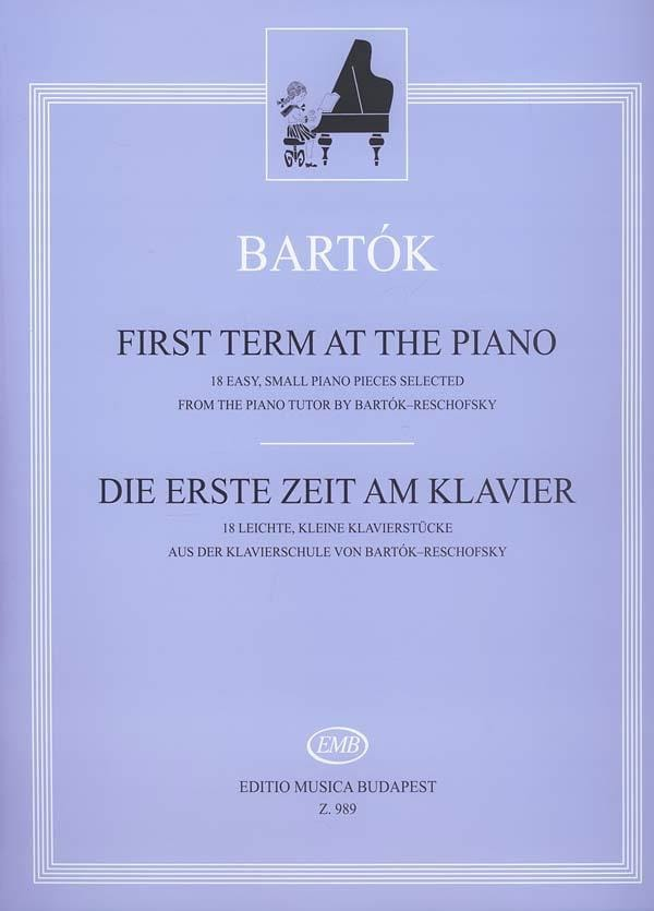First Term At The Piano - BARTOK - Partition - laflutedepan.com