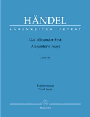 Alexander's Feast. Hwv 75 - HAENDEL - Partition - laflutedepan.com