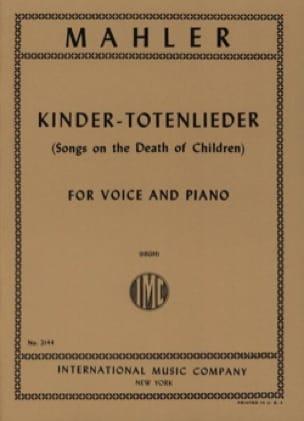Kindertotenlieder - Voix Haute - MAHLER - Partition - laflutedepan.com
