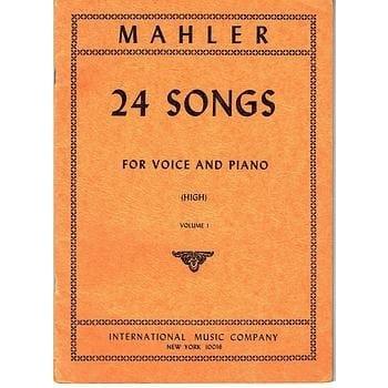 24 Songs Volume 2. Voix Haute - MAHLER - Partition - laflutedepan.com
