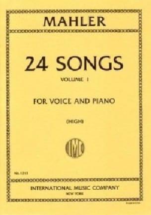 24 Songs Volume 1 Voix Haute - MAHLER - Partition - laflutedepan.com