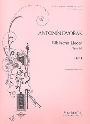 DVORAK - Biblische Lieder Opus 99 Serious Voice Volume 1 - Partition - di-arezzo.co.uk