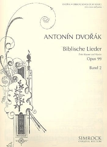 DVORAK - Biblische Lieder Opus 99 Serious Voice Volume 2 - Partition - di-arezzo.co.uk
