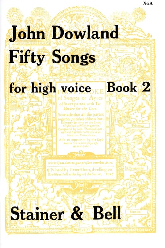 John Dowland - 50 Songs. High Voice Volume 2 - Partition - di-arezzo.co.uk