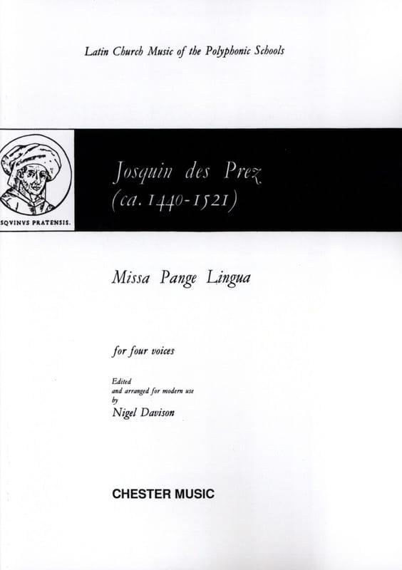 Missa Pange Lingua - Josquin Després - Partition - laflutedepan.com