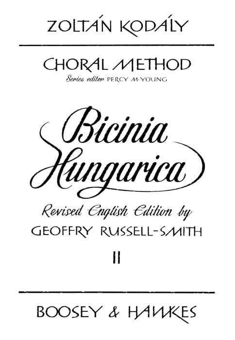Bicinia Hungarica Volume 2 - KODALY - Partition - laflutedepan.com