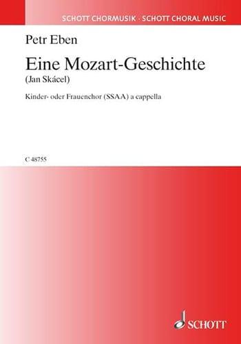 Petr Eben - Eine Mozart-Geschichte - Partition - di-arezzo.fr