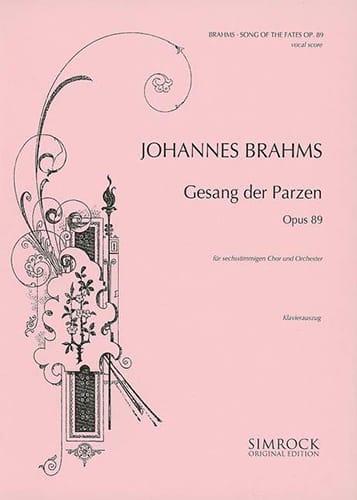Gesang des Parzen Op. 89 - BRAHMS - Partition - laflutedepan.com