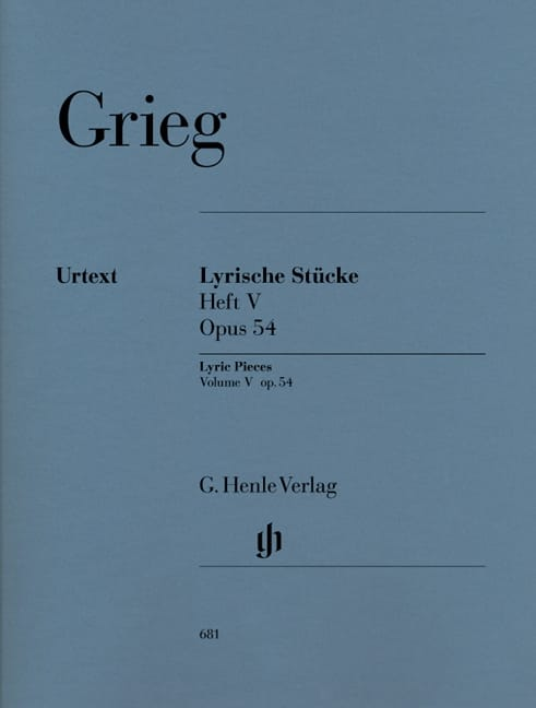 Edward Grieg - Lyrische Stücke Heft 5 Opus 54 - Partition - di-arezzo.co.uk