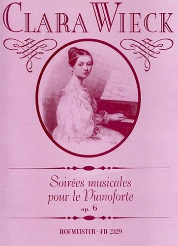 Clara Schumann - Soirées Musicales Opus 6 - Partition - di-arezzo.fr