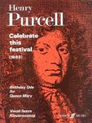 Celebrate This Festival - PURCELL - Partition - laflutedepan.com