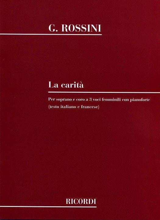 Gioachino Rossini - La Carita - Partition - di-arezzo.it