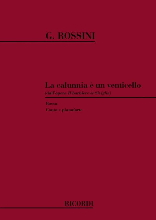 Gioachino Rossini - The Calumnia E a Venticello. Barbiere Di Siviglia - Partition - di-arezzo.co.uk