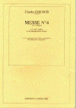 Messe N° 4 Ut Majeur - GOUNOD - Partition - Chœur - laflutedepan.com