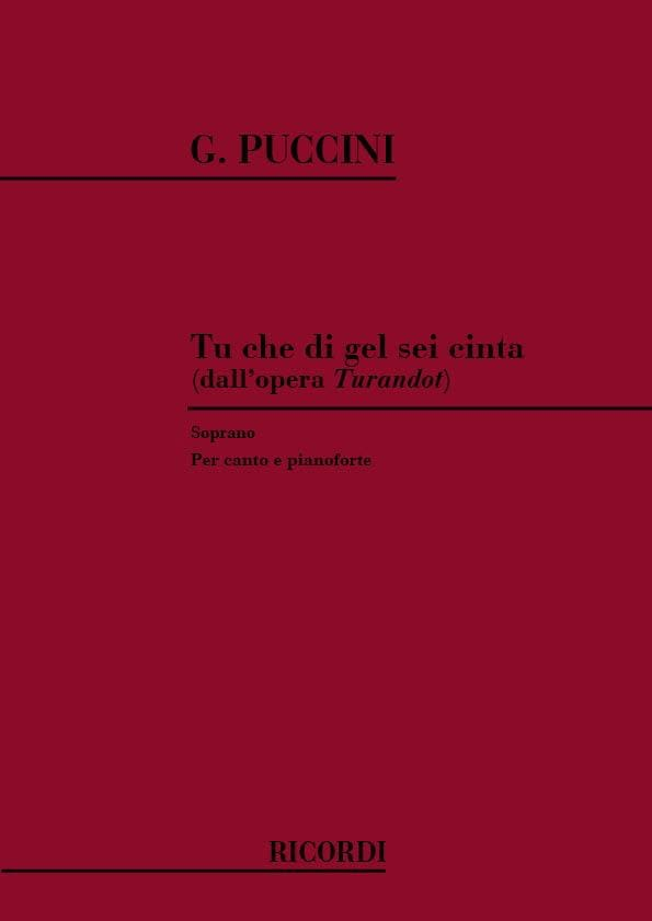 Giacomo Puccini - You Che Di Gel Sei Cinta. Turandot - Partition - di-arezzo.co.uk