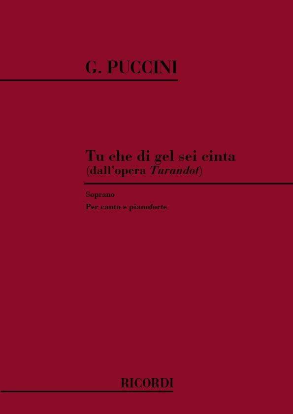 Giacomo Puccini - You Che Di Gel Sei Cinta. Turandot - Partition - di-arezzo.com