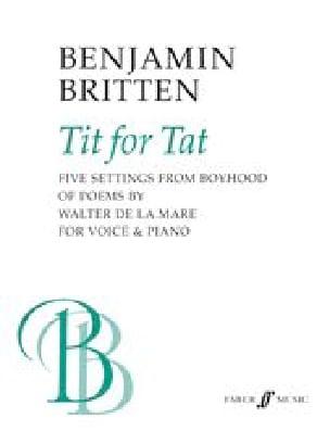 Tit For Tat - BRITTEN - Partition - Mélodies - laflutedepan.com