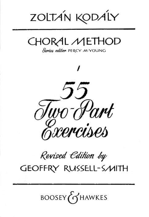 55 2-Parts Exercises - KODALY - Livre - Chœur - laflutedepan.com