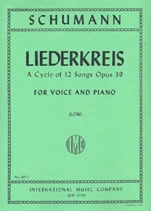 SCHUMANN - Liederkreis Opus 39. Serious Voice - Partition - di-arezzo.co.uk
