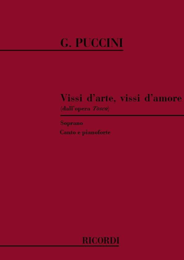Giacomo Puccini - Vissi D'arte, Vissi D'amore. Tosca - Partition - di-arezzo.co.uk