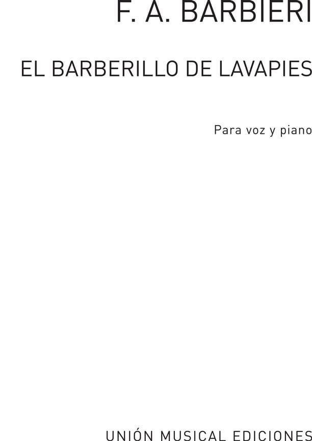 El Barberillo de Lavapies. Archive - laflutedepan.com