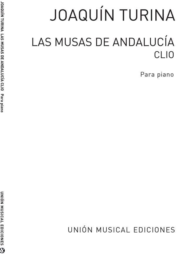 Clio Op. 93-1 - TURINA - Partition - Piano - laflutedepan.com