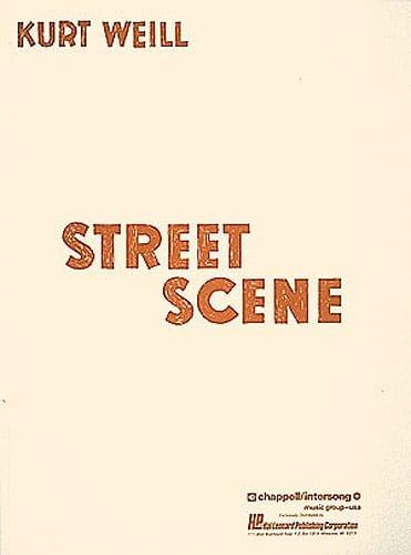 Kurt Weill - Street Scene - Partition - di-arezzo.fr