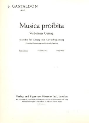 Musica Proibita Op. 5. Voix Haute - laflutedepan.com