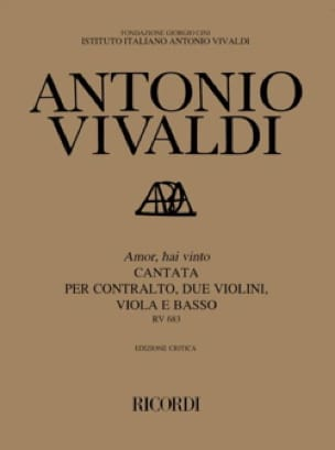 VIVALDI - Amor, Hai Vinto RV 683. - Partition - di-arezzo.co.uk