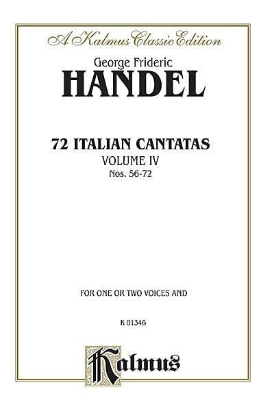 HAENDEL - 72 Cantatas italianas, volumen 4 - Partition - di-arezzo.es