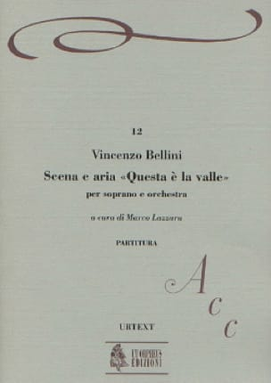 Vincenzo Bellini - Scena Aria Questa E la Valle - Partition - di-arezzo.co.uk