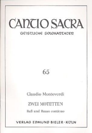 2 Motets - MONTEVERDI - Partition - Mélodies - laflutedepan.com