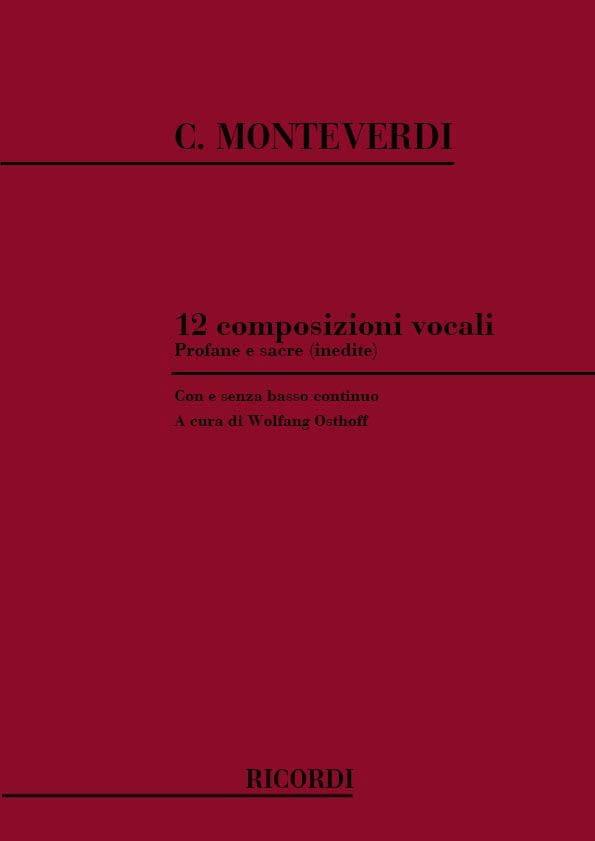 12 Composizioni Vocali - MONTEVERDI - Partition - laflutedepan.com
