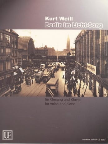 Kurt Weill - Berlín Im Licht-Song - Partition - di-arezzo.es