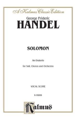 Solomon - HAENDEL - Partition - Chœur - laflutedepan.com