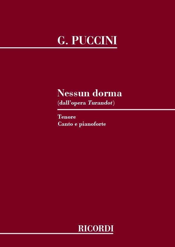 Nessun Dorma. Turandot - PUCCINI - Partition - laflutedepan.com