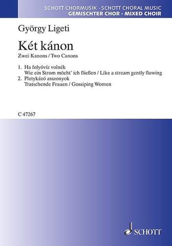 György Ligeti - Ket Kanon 2 Canons - Partition - di-arezzo.fr