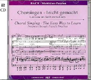 Passion selon Saint Matthieu BWV 244. 2 CD Alto CHOEUR - laflutedepan.com