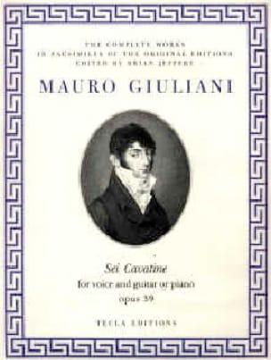 6 Cavatine Opus 39 - Mauro Giuliani - Partition - laflutedepan.com