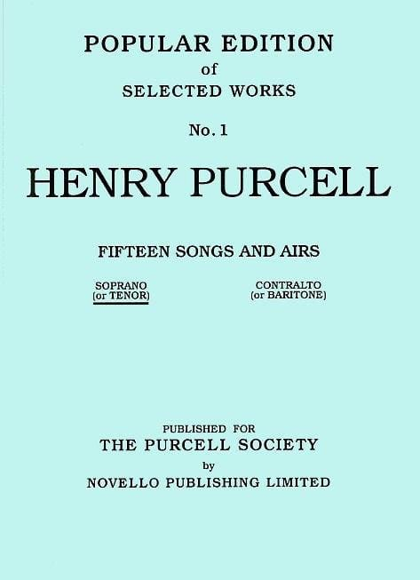 Henry Purcell - 15 Songs And Airs Volume 1. High Voice - Partition - di-arezzo.co.uk