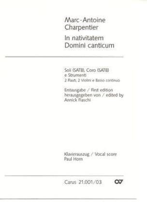 In Nativitatem Domini Canticum H 314 - CHARPENTIER - laflutedepan.com