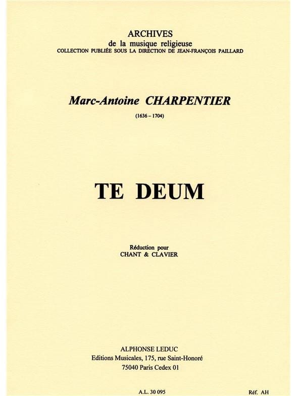 Marc-Antoine Charpentier - Te Deum - Partition - di-arezzo.co.uk