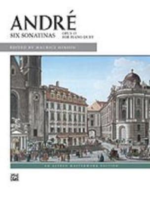 6 Sonatines Op. 45 4 Mains - Johann Anton André - laflutedepan.com