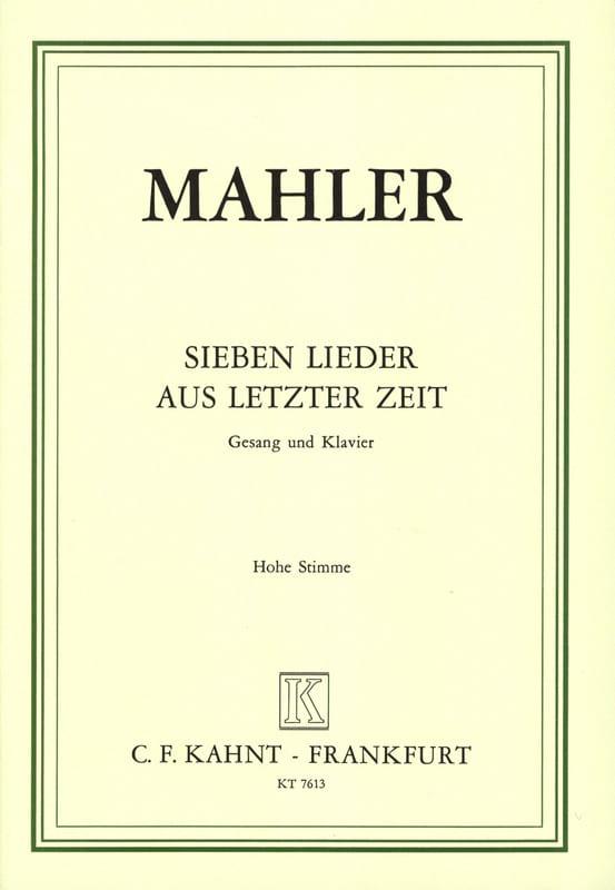 7 Lieder Aus Letzter Zeit. Voix Haute - MAHLER - laflutedepan.com
