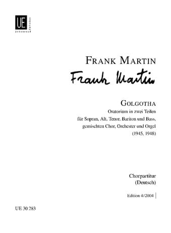 Frank Martin - Golgotha. Chorus alone - Partition - di-arezzo.co.uk