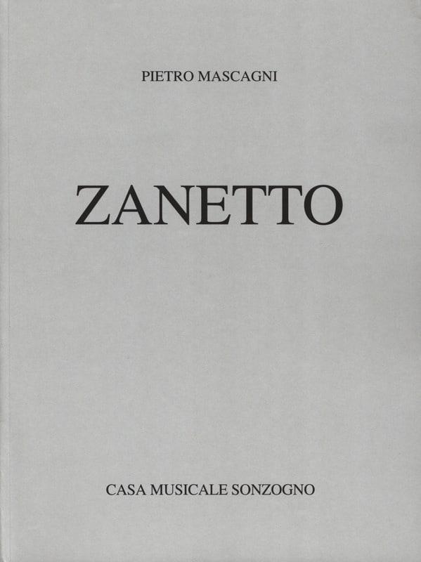 Pietro Mascagni - Zanetto - Partition - di-arezzo.co.uk