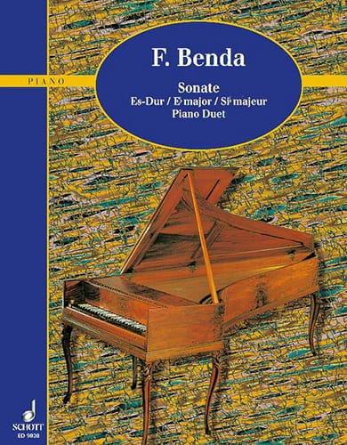 Sonate Si Bémol Majeur. 4 Mains - Georg Benda - laflutedepan.com